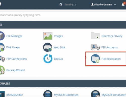 File restoration in cPanel & WHM Version 68